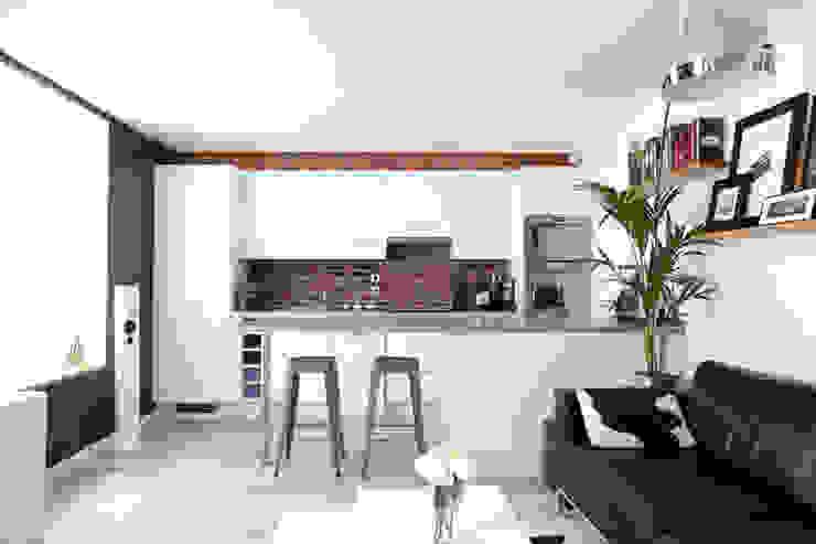Aménagement d'un appartement de 60m² - Nanterre Cuisine industrielle par MadaM Architecture Industriel