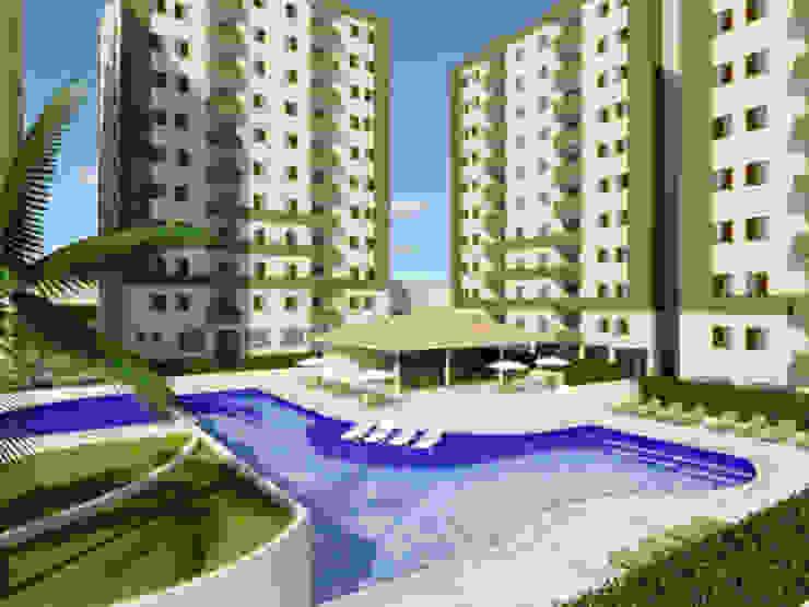 Paisagismo de Condominios Piscinas ecléticas por Roncato Paisagismo e Comércio de Plantas Ltda Eclético