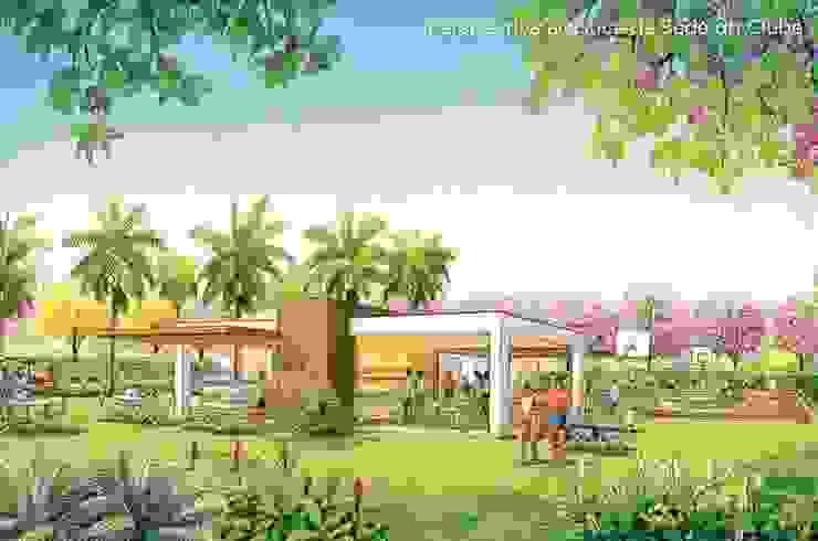 Lazer projetado para a URBPLAN Condominios Jardins tropicais por Roncato Paisagismo e Comércio de Plantas Ltda Tropical