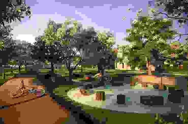 Paisagismo de Condominios Jardins campestres por Roncato Paisagismo e Comércio de Plantas Ltda Campestre