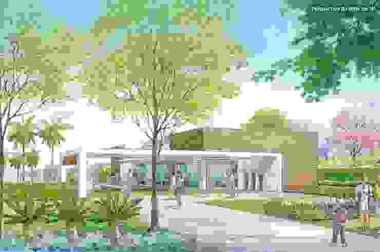Paisagismo do Fitness projetado para a URBPLAN Condominios Fitness eclético por Roncato Paisagismo e Comércio de Plantas Ltda Eclético