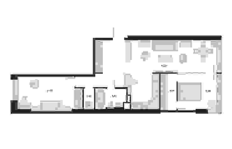 План помещения с расстановкой мебели. от 3D GROUP Классический