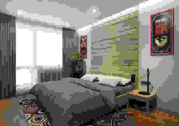 Квартира 60м2. Москва 2014г. Спальня в стиле лофт от homify Лофт
