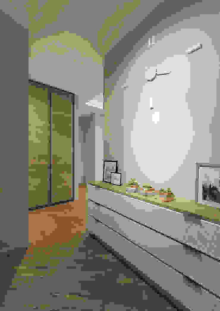Pasillos, vestíbulos y escaleras eclécticos de tim-gabriel Ecléctico