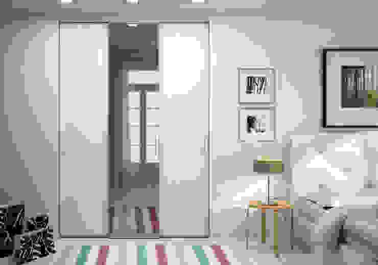 Porte de placard sur-mesure solo avec miroir - Ivroire Griffé par Centimetre.com Scandinave