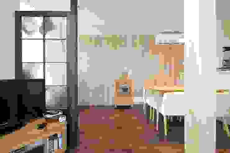 素材感のある壁 オリジナルデザインの ダイニング の 池田デザイン室(一級建築士事務所) オリジナル