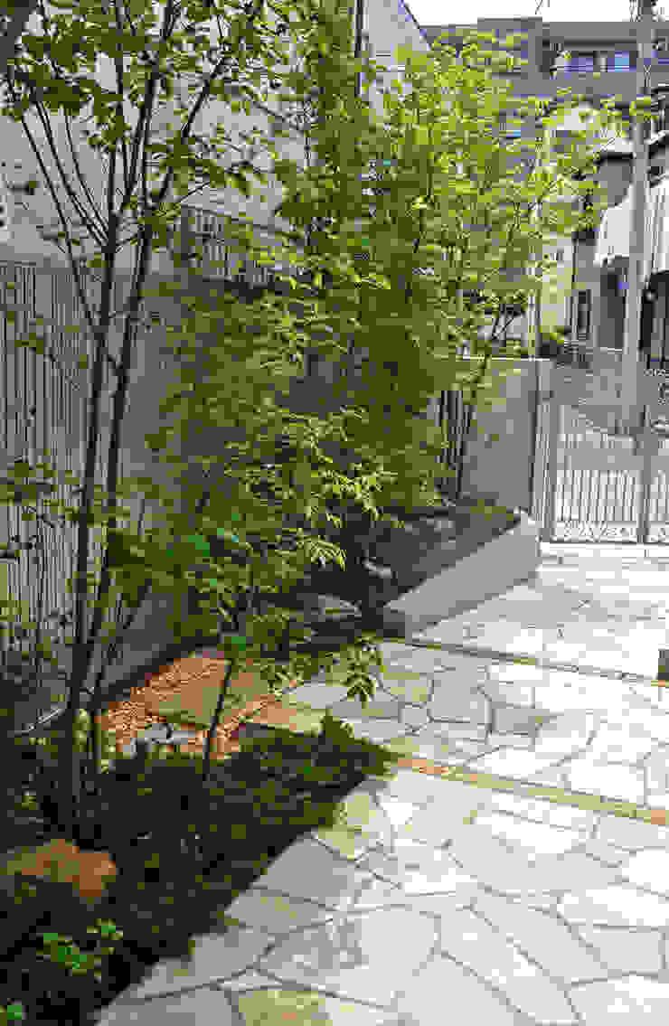 木陰とアプローチの明暗 オリジナルな 庭 の 新美園 オリジナル