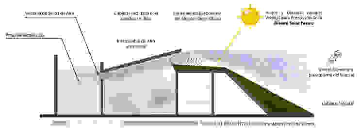 Sección Bioclimática de sanzpont [arquitectura] Moderno