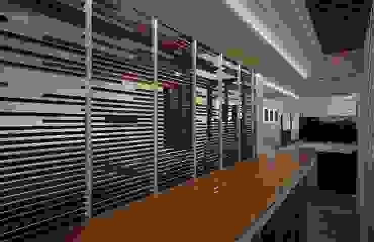 Casa Satélite 1 Pasillos, vestíbulos y escaleras modernos de Diseño Distrito Federal Moderno