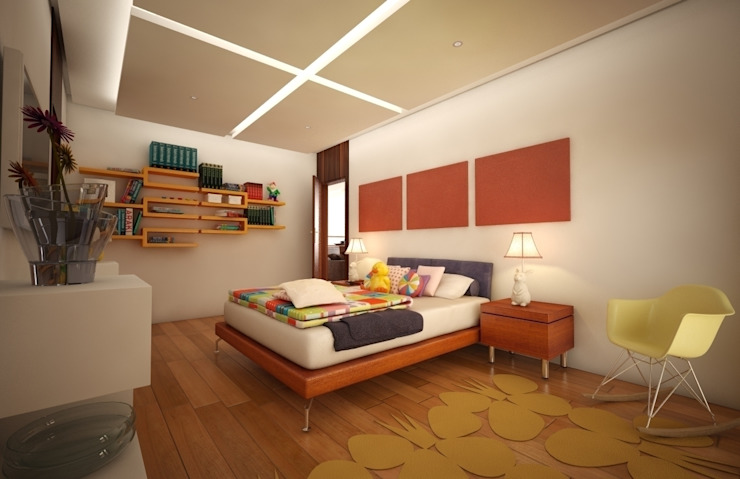 Casa Satélite 1 Dormitorios infantiles modernos de Diseño Distrito Federal Moderno