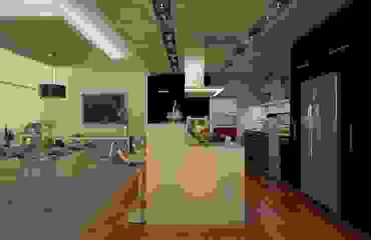 Casa Satélite 1 Cocinas modernas de Diseño Distrito Federal Moderno
