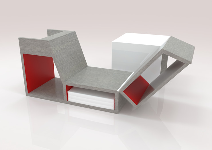 Concept chaise longue LA DEC par homify Minimaliste