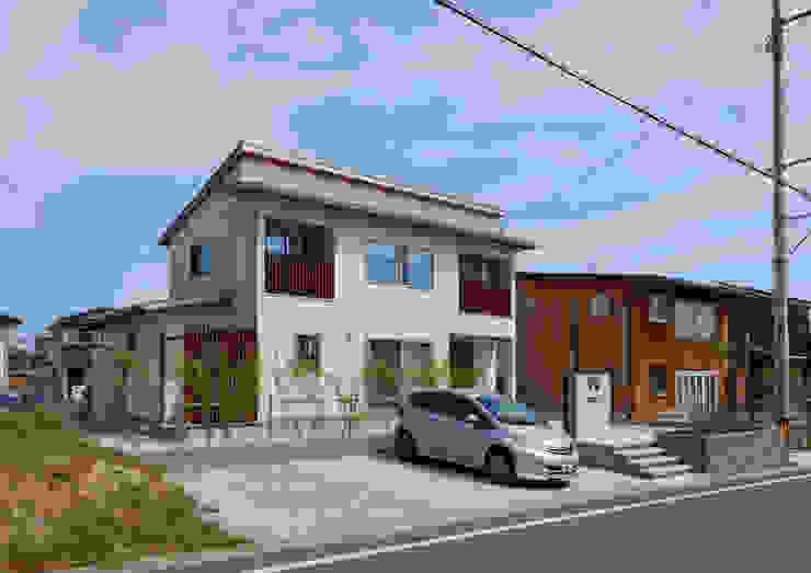 家族を見守る 大黒柱のある家 モダンな 家 の ビオハウジング タケモリ1級建築設計事務所 モダン