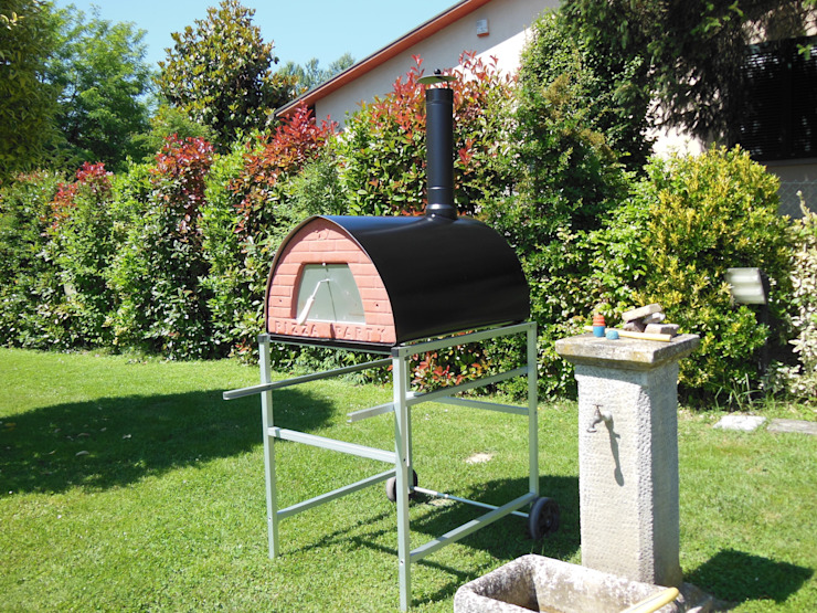 Outdoor Wood fired oven Pizzone by Pizza Party Jardines rústicos de Genotema SRL Unipersonale Rústico
