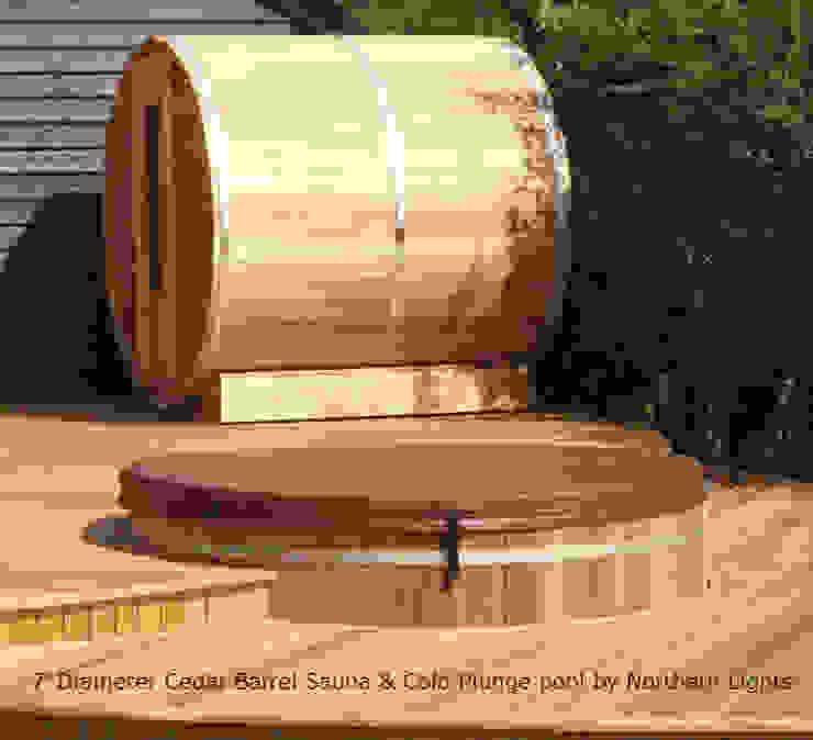 Cedar Barrel Sauna Eklektik Bahçe Cedar Hot Tubs UK Eklektik