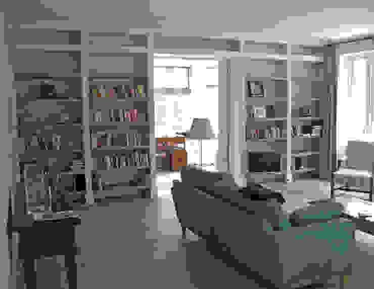 zicht op werkkamer Moderne studeerkamer van Snellen Architectenbureau Modern