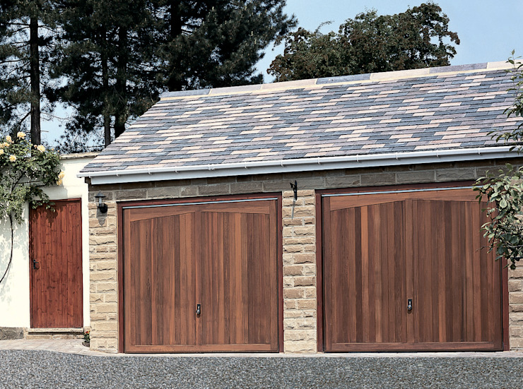 Garage Doors in Timber: rustic  by The Garage Door Centre Limited, Rustic