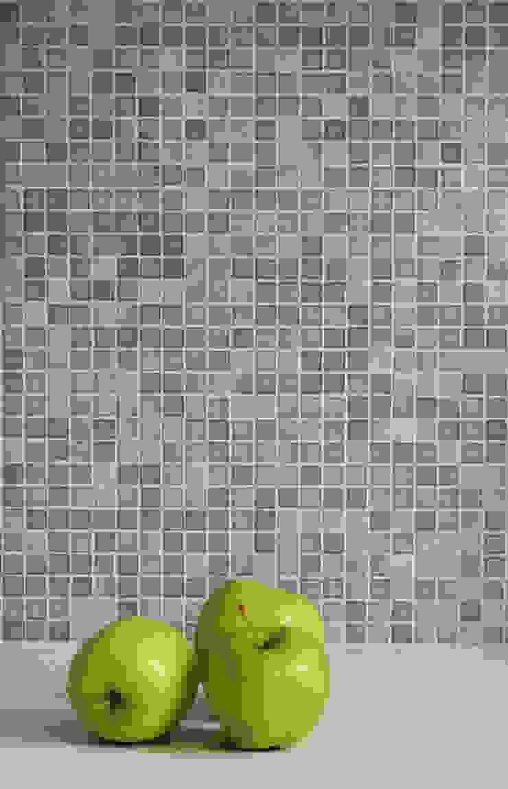Kuchnia - detal mozaiki Nowoczesna kuchnia od DoMilimetra Nowoczesny