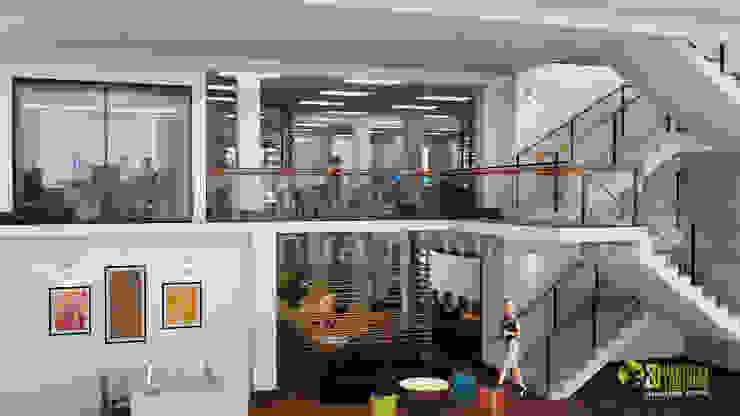 3D Office Interior Design Rendering: modern  by Yantram Architectural Design Studio, Modern