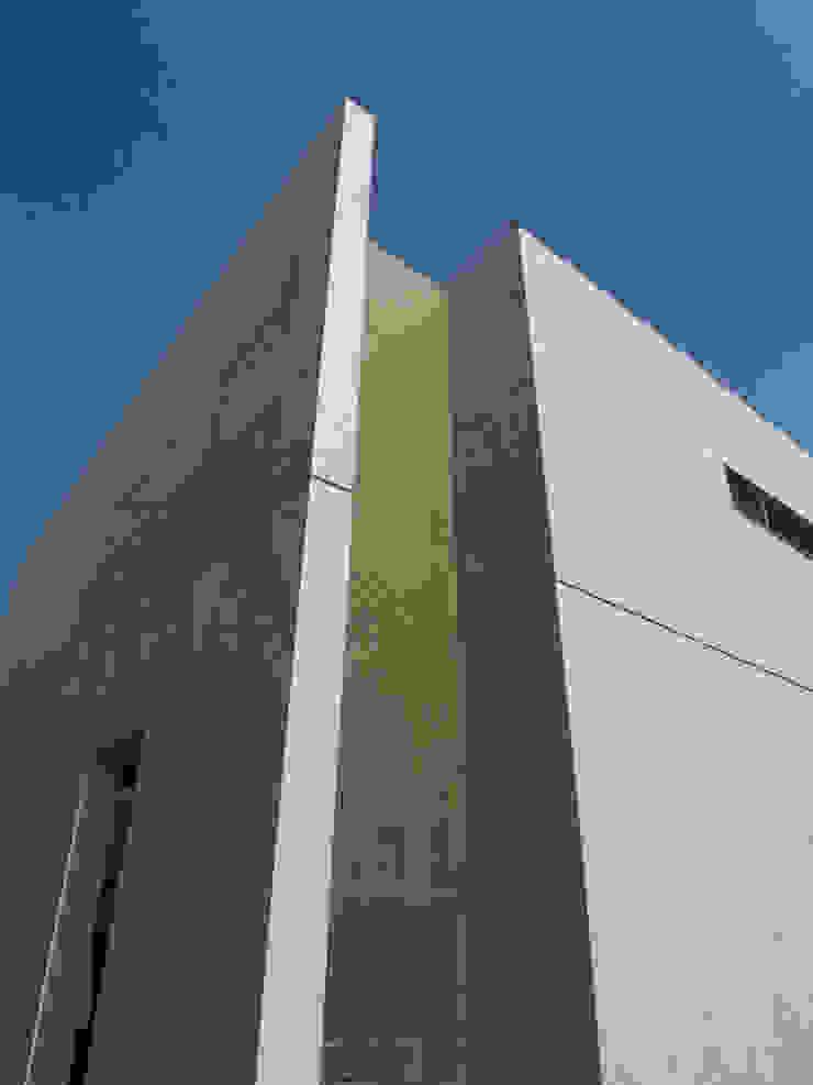 外観、トイレ風呂周り外に施したFRP格子 モダンな 家 の 株式会社アルフデザイン モダン