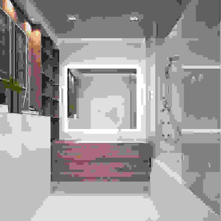Minimalist style bathroom by Zikzak architects Minimalist