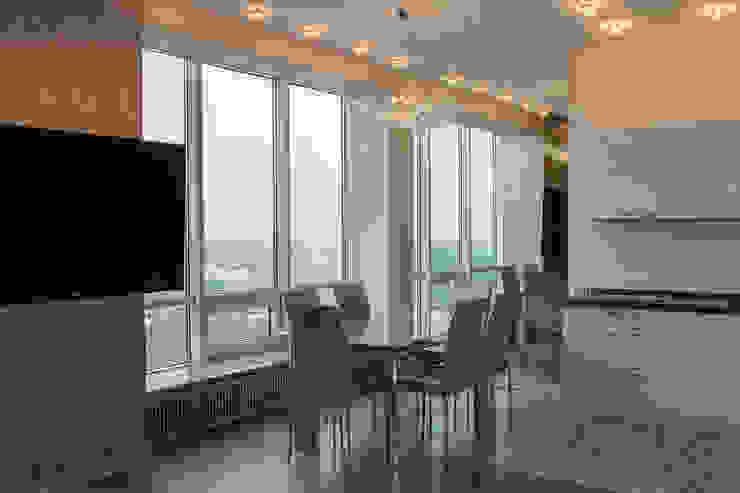 Квартира в ЖК Аэробус Столовая комната в стиле минимализм от JulyAlex Минимализм