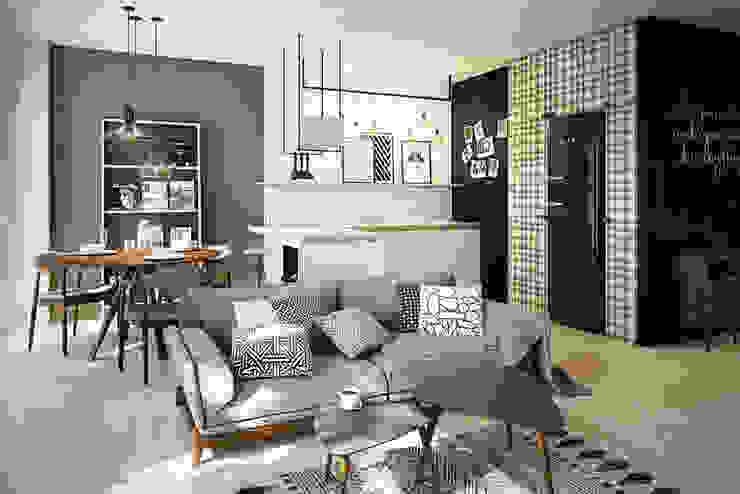 Scandinavian style living room by razoo-architekci Scandinavian