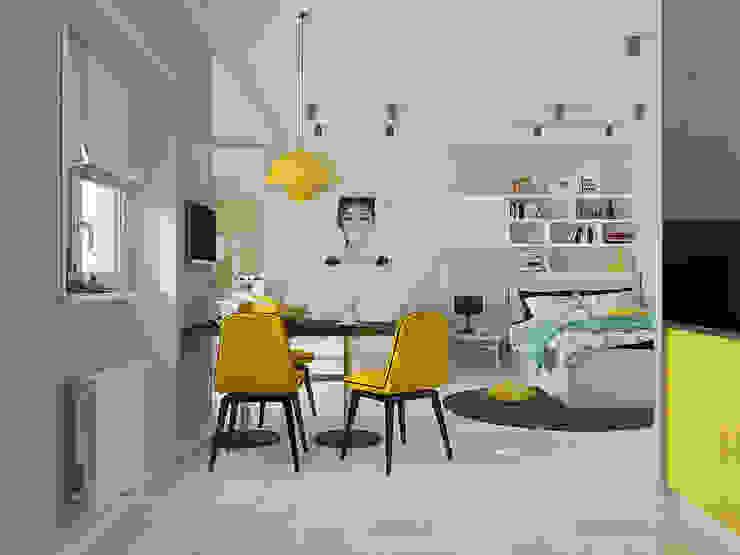 Мятный Glam: Гостиная в . Автор – EEDS дизайн студия Евгении Ермолаевой