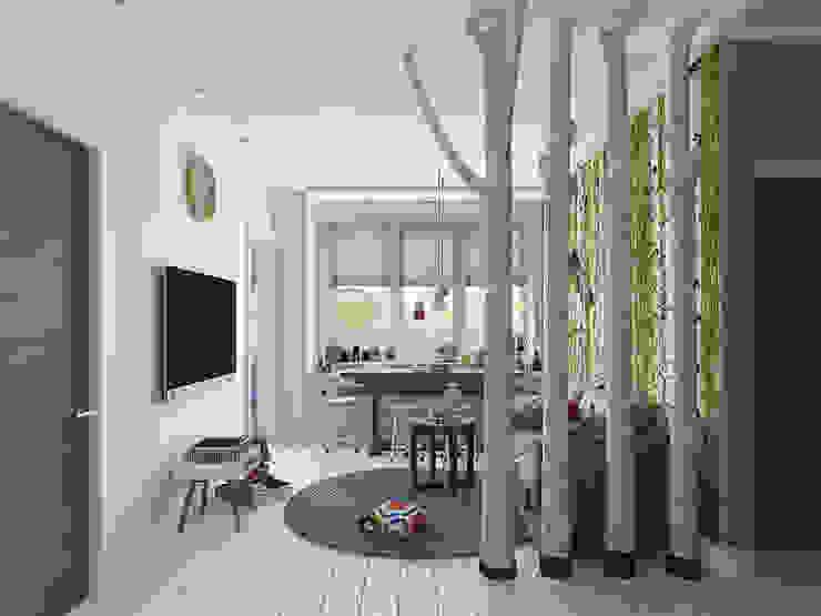 Скандинавский лес: Гостиная в . Автор – EEDS дизайн студия Евгении Ермолаевой