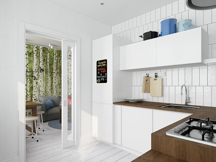 Скандинавский лес Кухня в скандинавском стиле от EEDS дизайн студия Евгении Ермолаевой Скандинавский