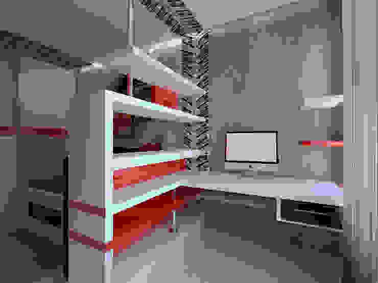 3-х комнатная квартира г.Краснодар Рабочий кабинет в классическом стиле от K&D Классический