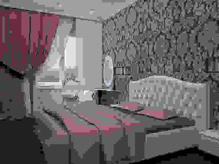 3-х комнатная квартира г.Краснодар Спальня в классическом стиле от K&D Классический