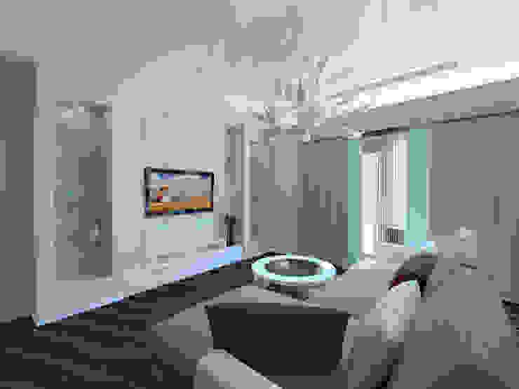 3-х комнатная квартира г.Краснодар Гостиная в классическом стиле от K&D Классический