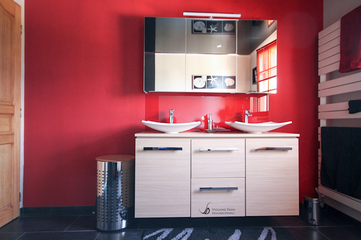 Modern style bathrooms by Violaine Denis Modern