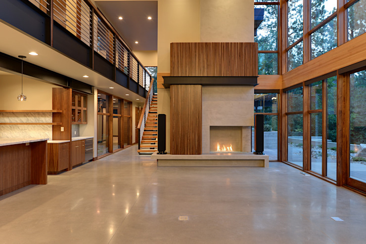 Park Lane Residence Гостиная в стиле модерн от Uptic Studios Модерн