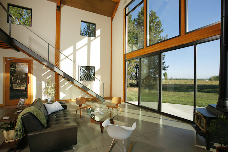 Palouse Residence Modern Living Room by Uptic Studios Modern