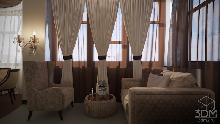 Проект 031: кафе-гостиная Столовая комната в классическом стиле от студия визуализации и дизайна интерьера '3dm2' Классический