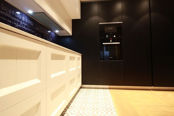 Diseño de Cocina en Madrid Cocinas de estilo moderno de Línea 3 Cocinas Madrid Moderno