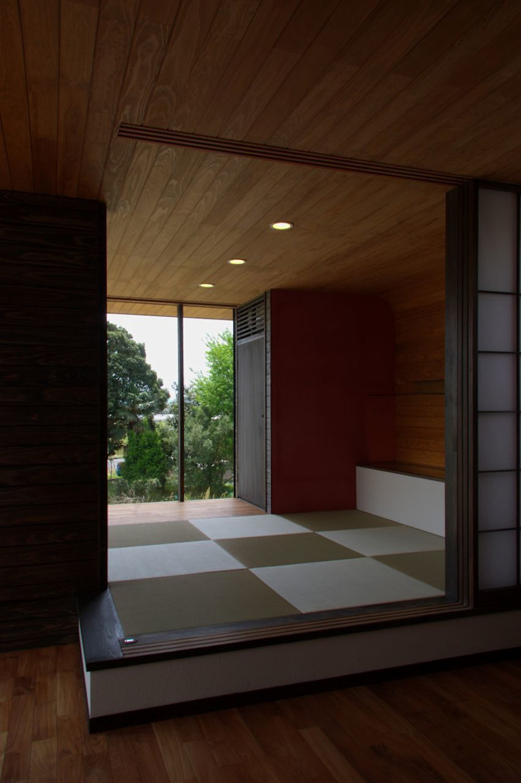 KBGN 国分ののびやかな平屋の家 モダンデザインの 多目的室 の 太田則宏建築事務所 モダン