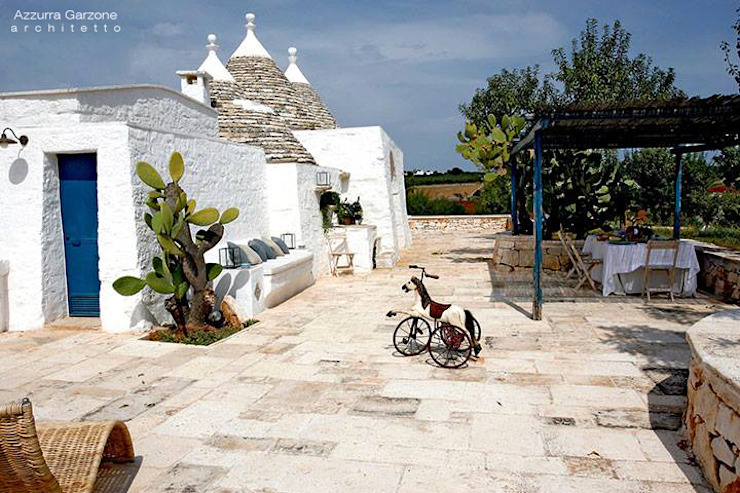 Azzurra Garzone architetto Jardines de estilo mediterráneo