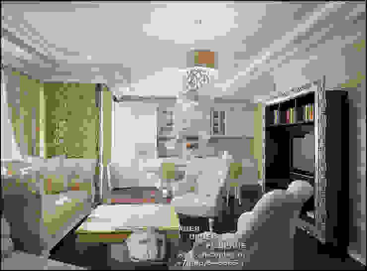 Дизайн бежевой гостиной, фото интерьера Гостиная в стиле модерн от Бюро домашних интерьеров Модерн