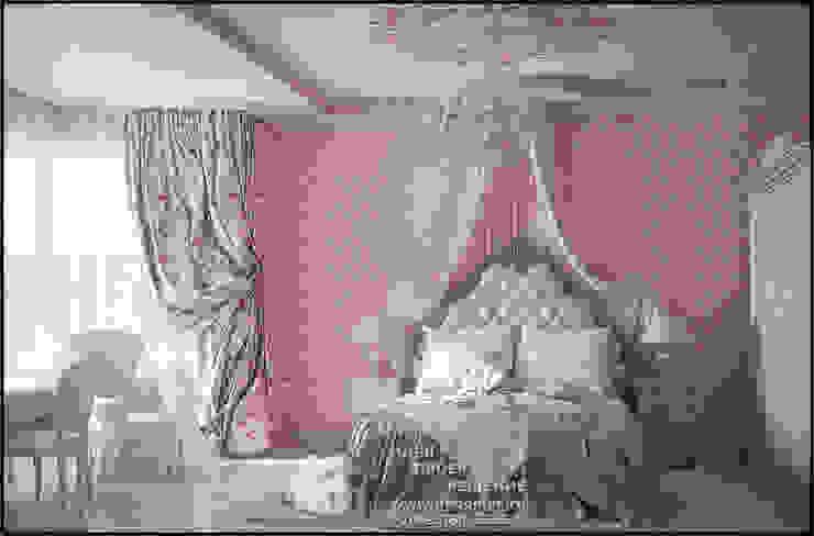 Дизайн интерьера детской комнаты для девочки Спальня в стиле модерн от Бюро домашних интерьеров Модерн
