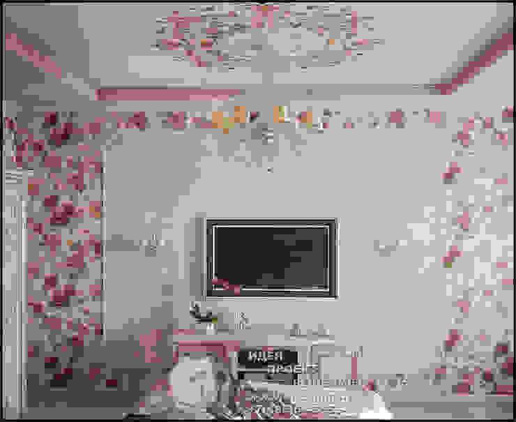 Обои с розами в интерьере спальни Спальня в стиле модерн от Бюро домашних интерьеров Модерн