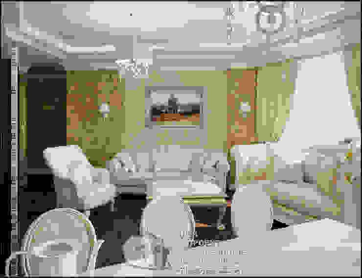 Фото интерьера гостиной в стиле арт-деко с мотивами модерна Гостиная в стиле модерн от Бюро домашних интерьеров Модерн