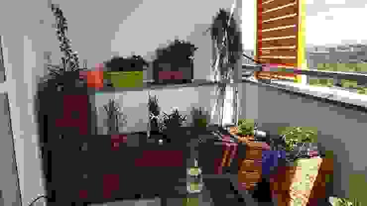 Loggia - realizacja Klasyczny balkon, taras i weranda od ARCHITEKTONIA Studio Architektury Krajobrazu Agnieszka Szamocka -Niemas Klasyczny