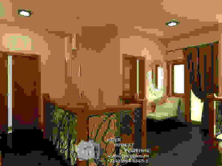 Бежево-коричневый интерьер холла Гостиная в стиле модерн от Бюро домашних интерьеров Модерн
