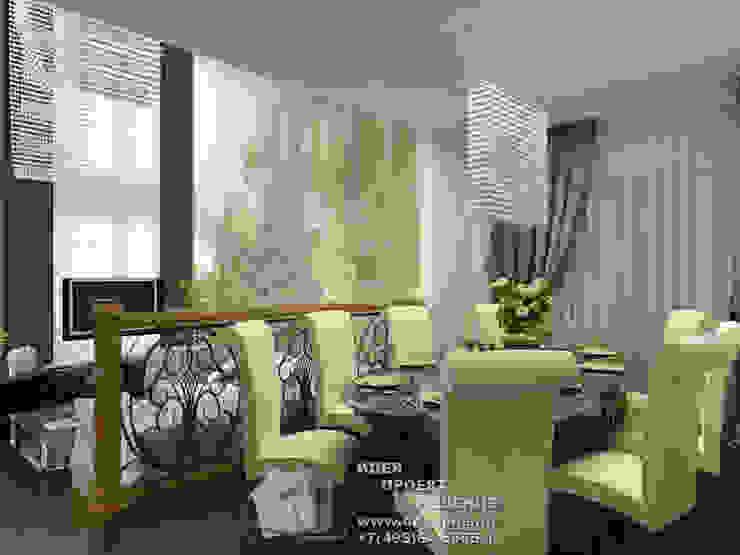 Фото интерьера столовой в стиле ар-нуво Столовая комната в классическом стиле от Бюро домашних интерьеров Классический