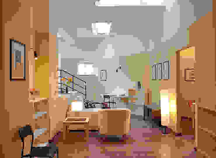 Modern corridor, hallway & stairs by Valtorta srl Modern