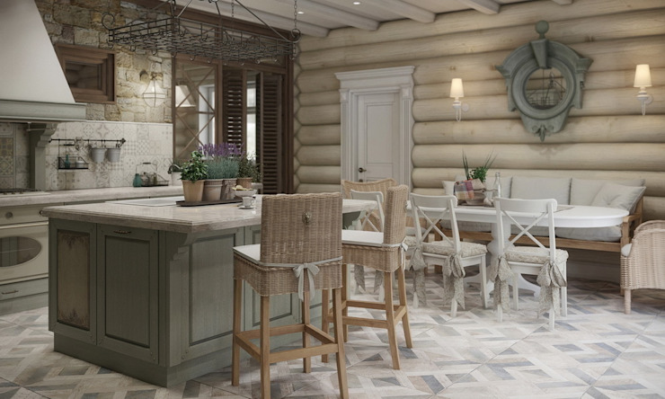MJMarchdesign Rustic style dining room