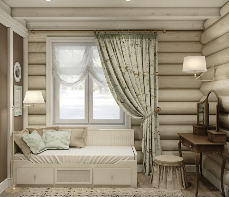 Rustic style bedroom by MJMarchdesign Rustic